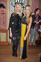 Left to right, POPPY DELEVINGNE and FLORENCE BRUDENELL-BRUCE at a lunch to celebrate the the Lulu & Co Autumn/Winter 2011 collection held at Harry's Bar, 26 South Audley Street, London W1 on 21st June 2011.