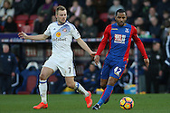 Jason Puncheon of Crystal Palace (R) in action with Sebastian Larsson of Sunderland (L). Premier League match, Crystal Palace v Sunderland at Selhurst Park in London on Saturday 4th February 2017. pic by Steffan Bowen, Andrew Orchard sports photography.