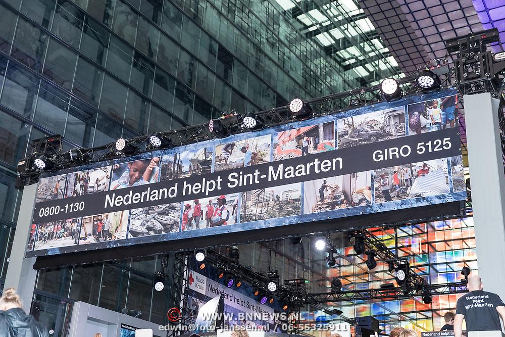 NLD/Hilversum/20170915 - Nationale actiedag Nederland helpt Sint Maarten, Actiebord