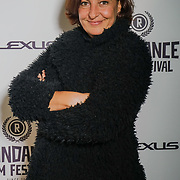 London, England, UK. 25th September 2017. Documentary Esther Garcia de Lucas of post truth times attend Raindance Film Festival Screening at Vue Leicester Square, London, UK