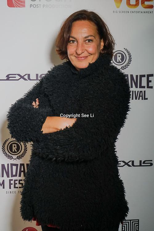 London, England, UK. 25th September 2017. Documentary Esther Garcia de Lucas of post truth times attend Raindance Film Festival Screening at Vue Leicester Square, London, UK