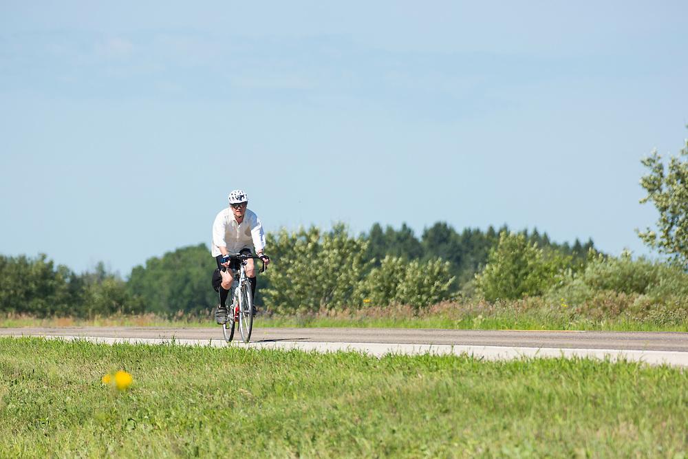 Rest stop, Highway 3, between Mistatim and Prairie River, Day 6.