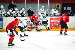 Bine Masic vs MUSIC Ales during Alps League Ice Hockey match between HDD SIJ Jesenice and HK SZ Olimpija on January 2, 2021 in Ice Arena Podmezakla, Jesenice, Slovenia. Photo by Peter Podobnik / Sportida