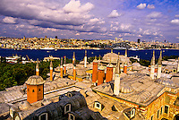 View of Istanbul from the Tower of Justice, Topkapi Palace, Istanbul, Turkey