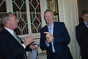 THE DUKE OF BUCCLEUCH; RORY BREMNER, The Walter Scott Prize for Historical Fiction 2015 - The Duke of Buccleuch hosts party to for the shortlist announcement. <br /> The winner is announced at the Borders Book Festival in Scotland in June.John Murray's Historic Rooms, 50 Albemarle Street, London, 24 March 2015.