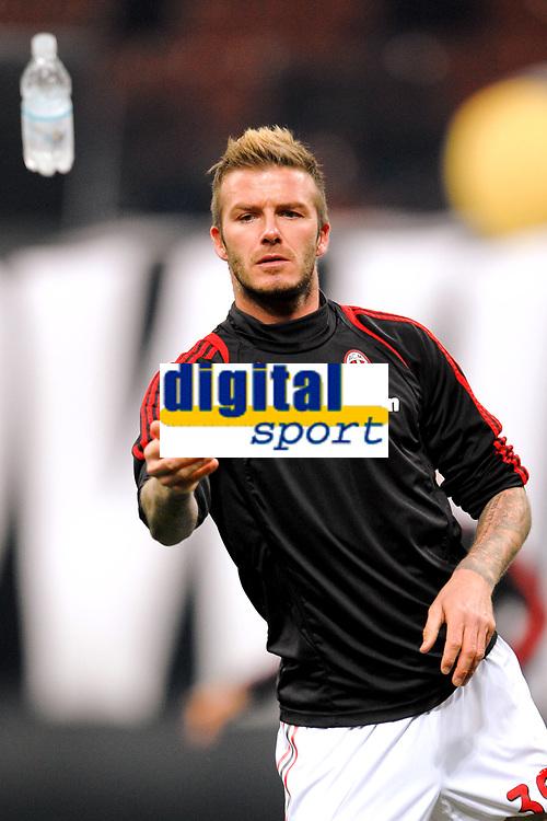 "David BECKHAM Milan<br /> Milano 6/1/2010 Stadio ""Giuseppe Meazza""<br /> Milan - Genoa 5-2<br /> Campionato Italiano Serie A 2009/2010<br /> Foto Andrea Staccioli Insidefoto"
