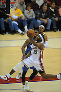 The Washington Wizards defeated the Cleveland Cavaliers 88-87 in Game 5 of the First Round of the NBA Playoffs, April 30, 2008 at Quicken Loans Arena in Cleveland.<br /> Devin Brown drives the lane against Washington.