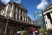 Bank of England at Bank in the City of London. Financial and banking centre.