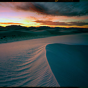Dusk, White Sands National Monument. 4x5 Kodak Ektar 100. photo by Nathan Lambrecht