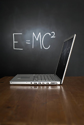 Jul. 26, 2012 - Blackboard and laptop (Credit Image: © Image Source/ZUMAPRESS.com)