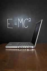 Jul. 26, 2012 - Blackboard and laptop (Credit Image: © Image Source/ZUMAPRESS.com)