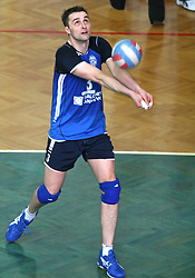 Andrej Berdon of Salonit  at 4th and final match of Slovenian Voleyball  Championship  between OK Salonit Anhovo (Kanal) and ACH Volley (from Bled), on April 23, 2008, in Kanal, Slovenia. The match was won by ACH Volley (3:1) and it became Slovenian Championship Winner. (Photo by Vid Ponikvar / Sportal Images)/ Sportida)