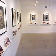 """Exhibition of Garmsir Marines work in the Houston Center of Photography with personal images taken by marines below Portraits taken by Louie Palu. This was part of a group show named """"Soldier, at Ease"""" with Erin Trieb and Tim Hetherington's work.<br /> (Credit Image: © Louie Palu/ZUMA Press)"""