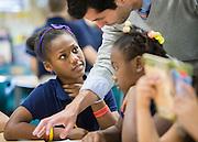 Fourth grade students in Mr. Bainbridge's class at Walnut Bend Elementary, December 11, 2012, in Houston.