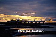 01874-08803 Tundra Buggy Lodge at sunrise  Churchill  MB