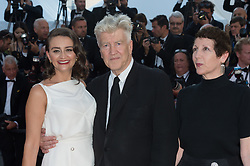Emily Stofle, director David Lynch and producer Sabrina S. Sutherland attending the Closing Ceremony during the 70th annual Cannes Film Festival held at the Palais Des Festivals in Cannes, France on May 28, 2017 as part of the 70th Cannes Film Festival. Photo by Nicolas Genin/ABACAPRESS.COM
