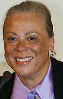 Boksing<br /> Foran WBC-tittelkampen i Berlin<br /> 16.12.2005<br /> Foto: Witters/Digitalsport<br /> NORWAY ONLY<br /> <br /> Lonnie Ali, die Ehefrau der Boxlegende Muhammad Ali  waehrend einer Pressekonferenz in Berlin.
