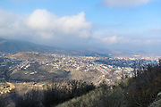 A panoramic view of Stepanakert, pictured on the road from Goris throughout Lachin Corridor, in the self-proclaimed Nagorno-Karabakh Republic on Tuesday, Dec 22, 2020. Russian peacekeepers control the five-kilometre-wide Lachin corridor, which provides communication between Nagorno-Karabakh and Armenia, the safe return of people to their places of residence, and the movement of civilian vehicles. The corridor is a mountain pass connecting Armenia and the enclave of Nagorno-Karabakh. The corridor is de jure in the Lachin District of Azerbaijan, but de facto in the Kashatagh Province of the self-proclaimed Republic of Artsakh. It contains the town of Lachin and the villages of Zabux and Sus. (Photo/ Vudi Xhymshiti)
