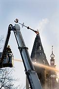 Nederland, Amersfoort, 22-10-2007Het Armando museum gaat in vlammen op. Ook drie belendende panden branden uit.Foto: Flip Franssen