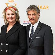 NLD/Katwijk/20191030 - 9 jaar Soldaat van Oranje, Karna Hazelhoff Castellon en partner Maurice Castellon