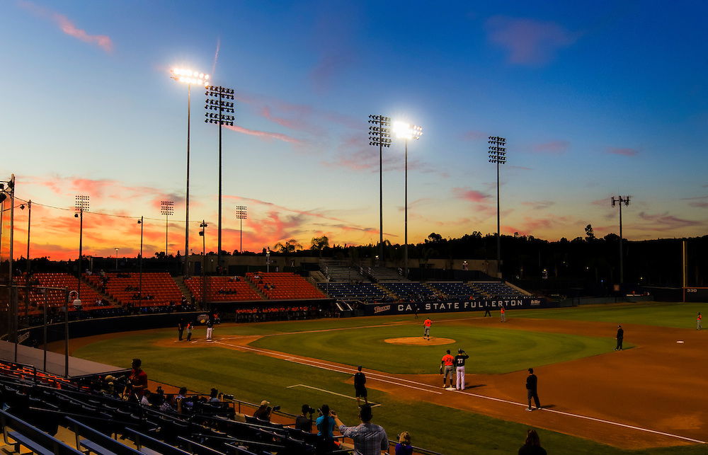 161104 Baseball, NCAA, Cal State Fullerton - Cypress College<br /> A Overview/scene setter over the Goodwin Field during the game.<br /> © Daniel Malmberg/Sports Shooter Academy 13