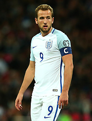 Harry Kane of England looks on while wearing the captains armband for the first time - Mandatory by-line: Robbie Stephenson/JMP - 05/10/2017 - FOOTBALL - Wembley Stadium - London, United Kingdom - England v Slovenia - World Cup qualifier