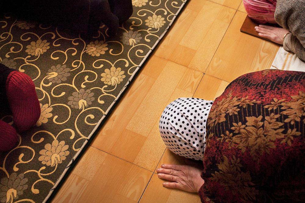 Prayer at the Beidajie Women's Mosque in Zhengzhou, Henan province, China.
