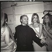 Linda Evangelista, Gianni Versace, Paris couture shows. 1991