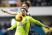Millwall forward Harry Smith (30), Peterborough United forward Paul Taylor (10) during the EFL Sky Bet League 1 match between Millwall and Peterborough United at The Den, London, England on 28 February 2017. Photo by Sebastian Frej.