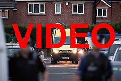 VIDEO AVAILABLE HERE: https://we.tl/EIzRQ3EE0l<br /> <br /> © Licensed to London News Pictures . 25/07/2017 . Oldham , UK . Scene where an armed siege that began at 3.15am on Tuesday 25th July in a house on Pemberton Way in Shaw , is ongoing . A man named locally as Marc Schofield is reported to be holding a woman hostage after earlier releasing two children . The gas supply in the area has been cut off and several neighbouring properties have been evacuated . Photo credit : Joel Goodman/LNP