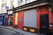 Bradleys Spanish Bar boarded up with its signs taken down as the Coronavirus lockdown measures are set to ease further and the quiet city starts coming to an end on 22nd June 2020 in London, England, United Kingdom. As of today the government has relaxed its lockdown rules, and is allowing some non-essential shops to open with individual shops setting up social distancing queueing systems.