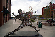 St. Louis Missouri MO USA, Busch Stadium home of St. Louis baseball team the Cardinals 2006 World Series Champions statue of a pitcher October 2006