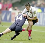 Saint-Denis, Paris, France, 23rd February 2003,  Six Nations Rugby International, France vs Scotland, Stade de France,<br /> [Mandatory Credit: Peter Spurrier/Intersport Images],<br /> Photo Peter Spurrier<br /> 23/02/2003<br /> Sport - Rugby - Six Nations Championships: France v Scotland<br /> Xavier Gabajosa.