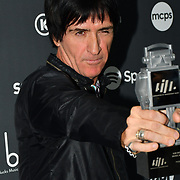 Johnny Marr receive awards at AIM Independent Music Awards at the Roundhouse on 3 September 2019, Camden Town, London, UK.