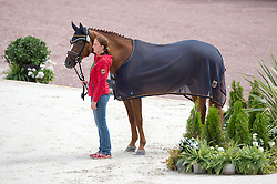 Elke Philipp, (GER), Regaliz - Team Competition Grade Ia Para Dressage - Alltech FEI World Equestrian Games™ 2014 - Normandy, France.<br /> © Hippo Foto Team - Jon Stroud <br /> 25/06/14