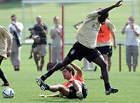 Fotball<br /> Tyskland 2004/05<br /> Trening Bayern München<br /> 21 juli 2004<br /> Foto: Digitalsport<br /> NORWAY ONLY<br /> Michael BALLACK, Samuel KUFFOUR