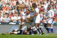 Picture by Andrew Tobin/Tobinators Ltd +44 7710 761829.26/05/2013.Kyle Eastmond of England celebtates scoring his first try during the match between England and the Barbarians at Twickenham Stadium, Twickenham.
