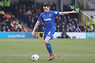 AFC Wimbledon midfielder Anthony Hartigan (8) passing the ball during the The FA Cup 5th round match between AFC Wimbledon and Millwall at the Cherry Red Records Stadium, Kingston, England on 16 February 2019.