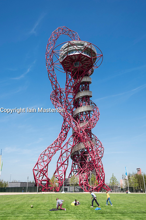 Orbit sculpture by Anish Kapoor at Queen Elizabeth Olympic Park in Stratford London United Kingdom