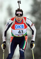 Christian De Lorenzi (ITA) at Men 20 km Individual at E.ON Ruhrgas IBU World Cup Biathlon in Hochfilzen (replacement Pokljuka), on December 18, 2008, in Hochfilzen, Austria. (Photo by Vid Ponikvar / Sportida)