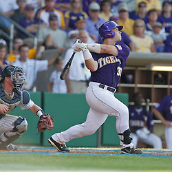 06 June 2009:  Micah Gibbs (33) of LSU in action during a 5-3 victory by the LSU Tigers over the Rice Owls in game two of the NCAA baseball College World Series, Super Regional played at Alex Box Stadium in Baton Rouge, Louisiana. The Tigers with the win advance to next week's College Baseball World Series in Omaha, Nebraska.