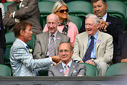 © Licensed to London News Pictures. 28/06/2016. SIR CLIFF RICHARD watches tennis on the centre court on the second day of the WIMBLEDON Lawn Tennis Championships in London, UK. Photo credit: Ray Tang/LNP