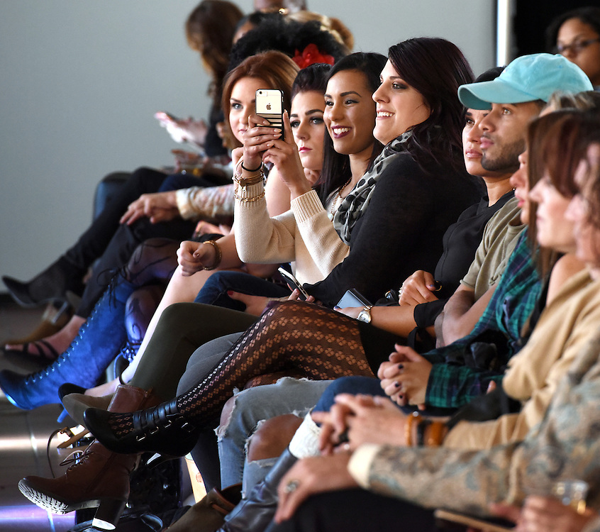 Photo by Mara Lavitt -- Special to the Hartford Courant<br /> October 4, 2015 <br /> Hartford Fashion Week, last day, Union Station, Hartford. Six designers showed their fashions.