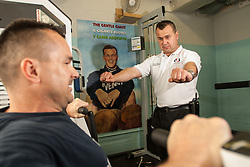 Prisoner in the gym