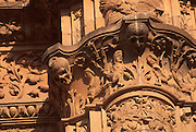 SPAIN, CASTILE, SALAMANCA University, façade with frog detail