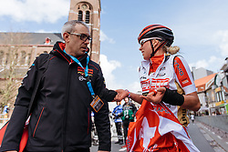 Jolanda Neff explains how the final played out to her team - Women's Gent Wevelgem 2016, a 115km UCI Women's WorldTour road race from Ieper to Wevelgem, on March 27th, 2016 in Flanders, Belgium.