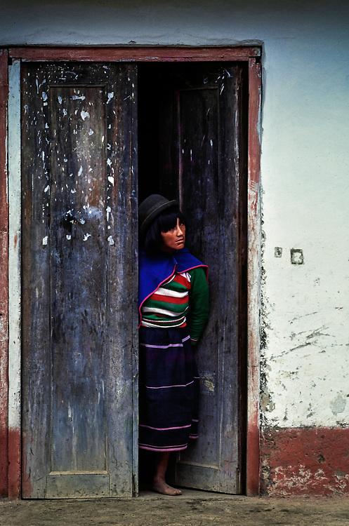 Guambiano Indian woman, Silvia, Cauca, Colombia