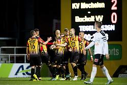 September 20, 2017 - Mechelen, BELGIUM - Mechelen's players celebrate after scoring 2-0 during a Croky Cup 1/16 final game between KV Mechelen and Bocholt (2Am), in Mechelen, Wednesday 20 September 2017. BELGA PHOTO JASPER JACOBS (Credit Image: © Jasper Jacobs/Belga via ZUMA Press)