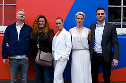 Edinburgh International Film Festival 2019<br /> <br /> Wedding Belles red carpet<br /> <br /> Pictured: (l to r) Philip John (director), Jemma Rodgers (producer), Kathleen McDermott, Shauna Macdonald and Kathleen's husband Martin Carberry<br /> <br /> Alex Todd   Edinburgh Elite media