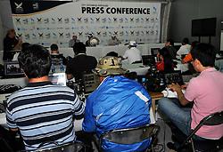 The WMRT Press Office in Korea. Photo:Chris Davies/WMRT